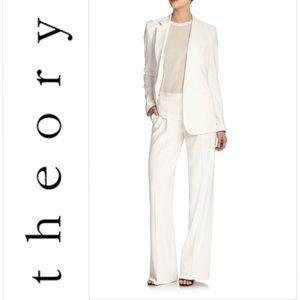 Theory Ivory Striped Stretch Flared Pants Sz. 2